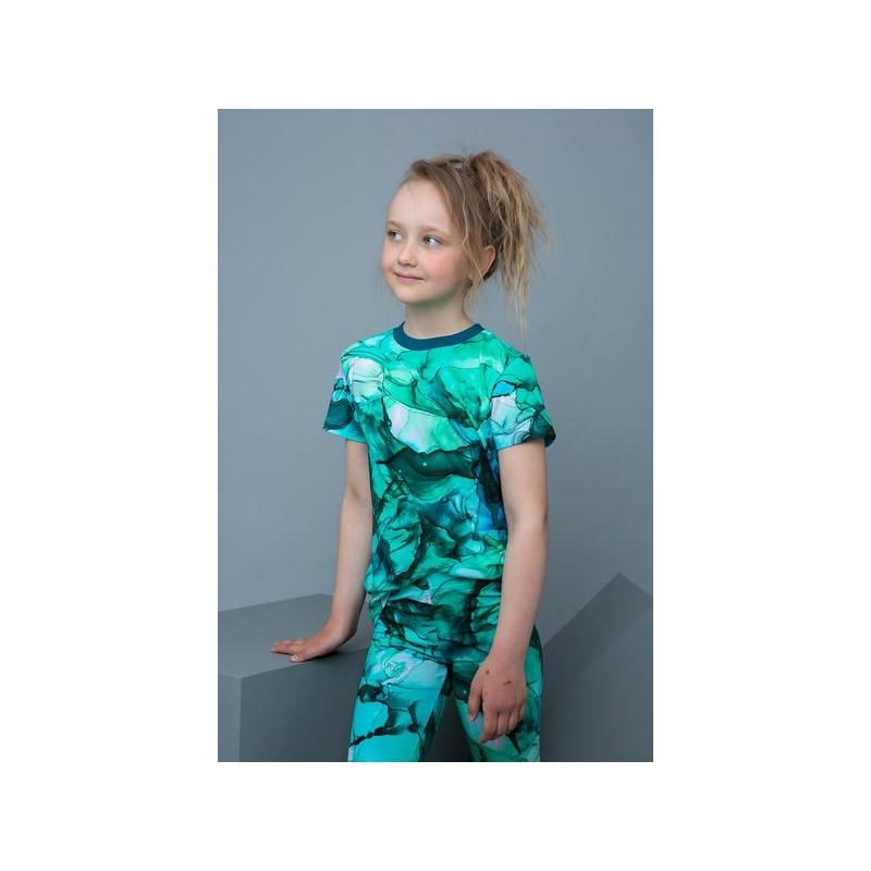 T-shirt LEIF Marble Lagoon
