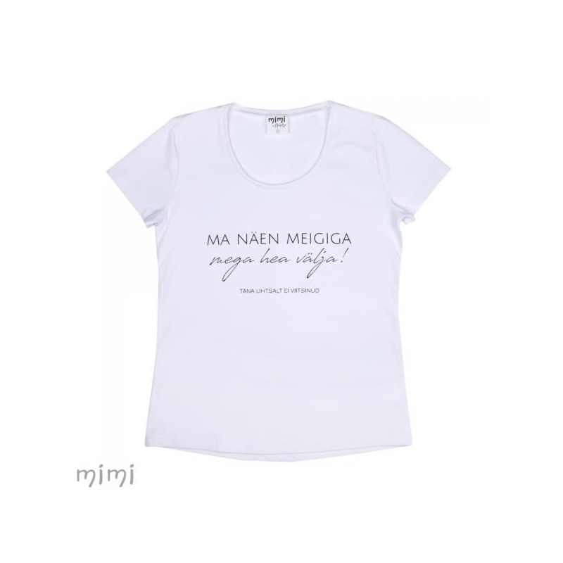 """Mimi x Mallukas T-särk """"Meigiga"""""""