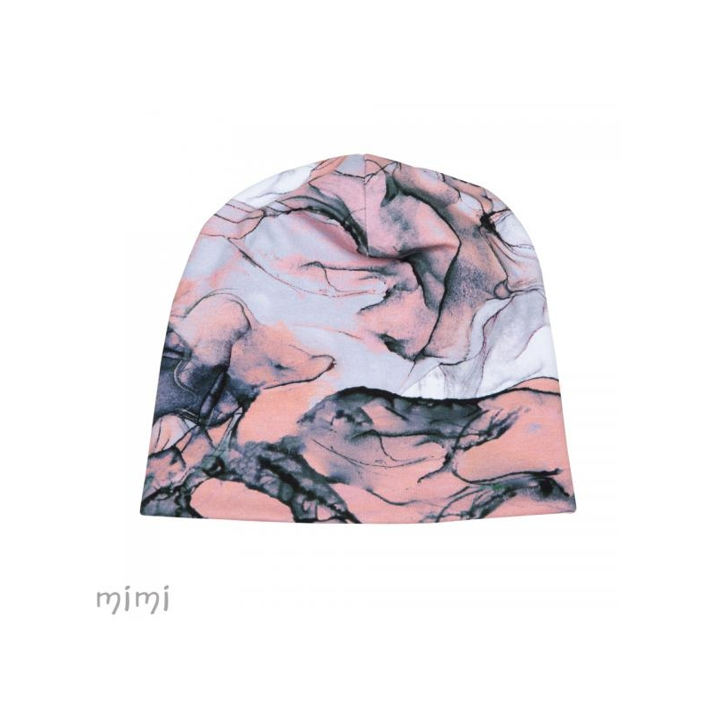 Beanie ALF Pink Marble Furry Fleece