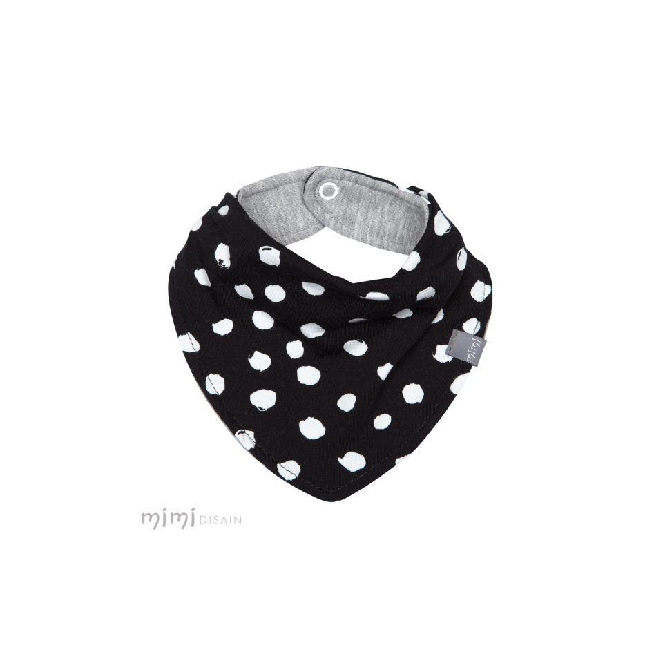Mimi Bib Black White Dot