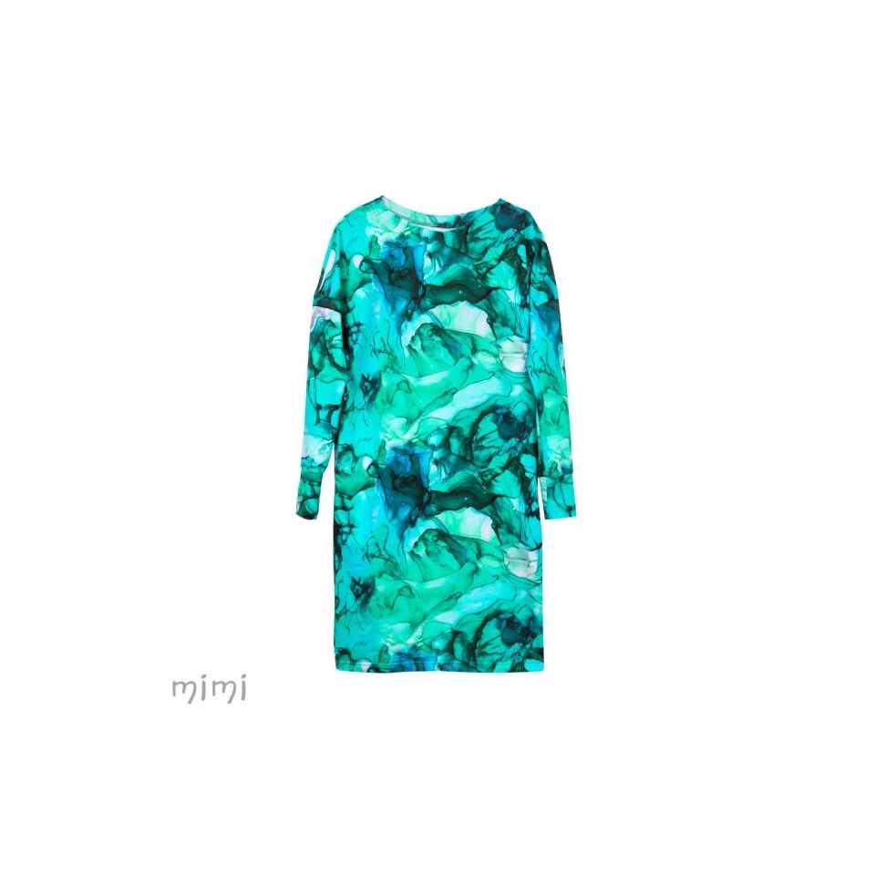 Women's Dress Marble Lagoon