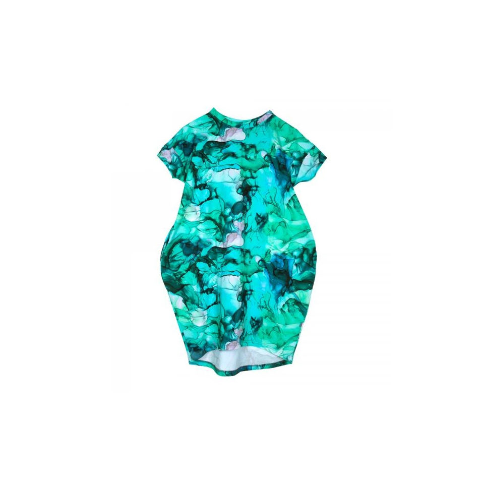 Women's Dress Elyza Marble Lagoon