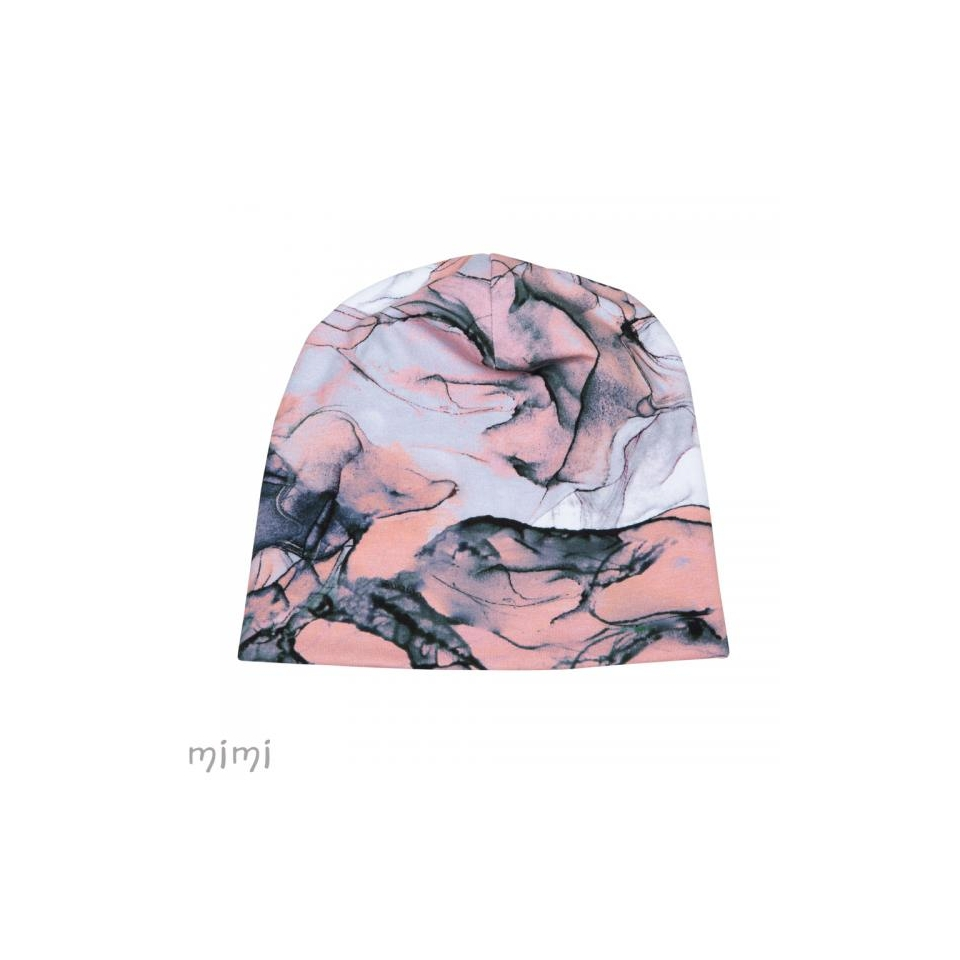Beanie ALF Pink Marble Furry Fleece
