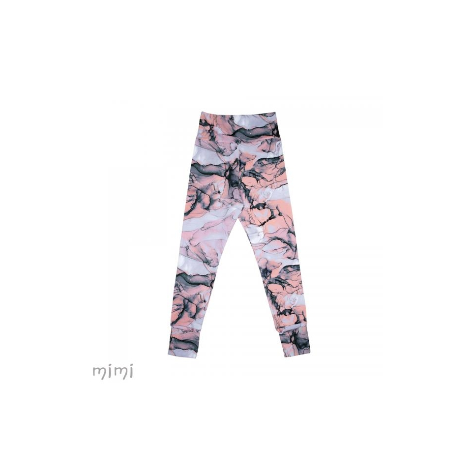 Women's leggings NORD Pink Marble