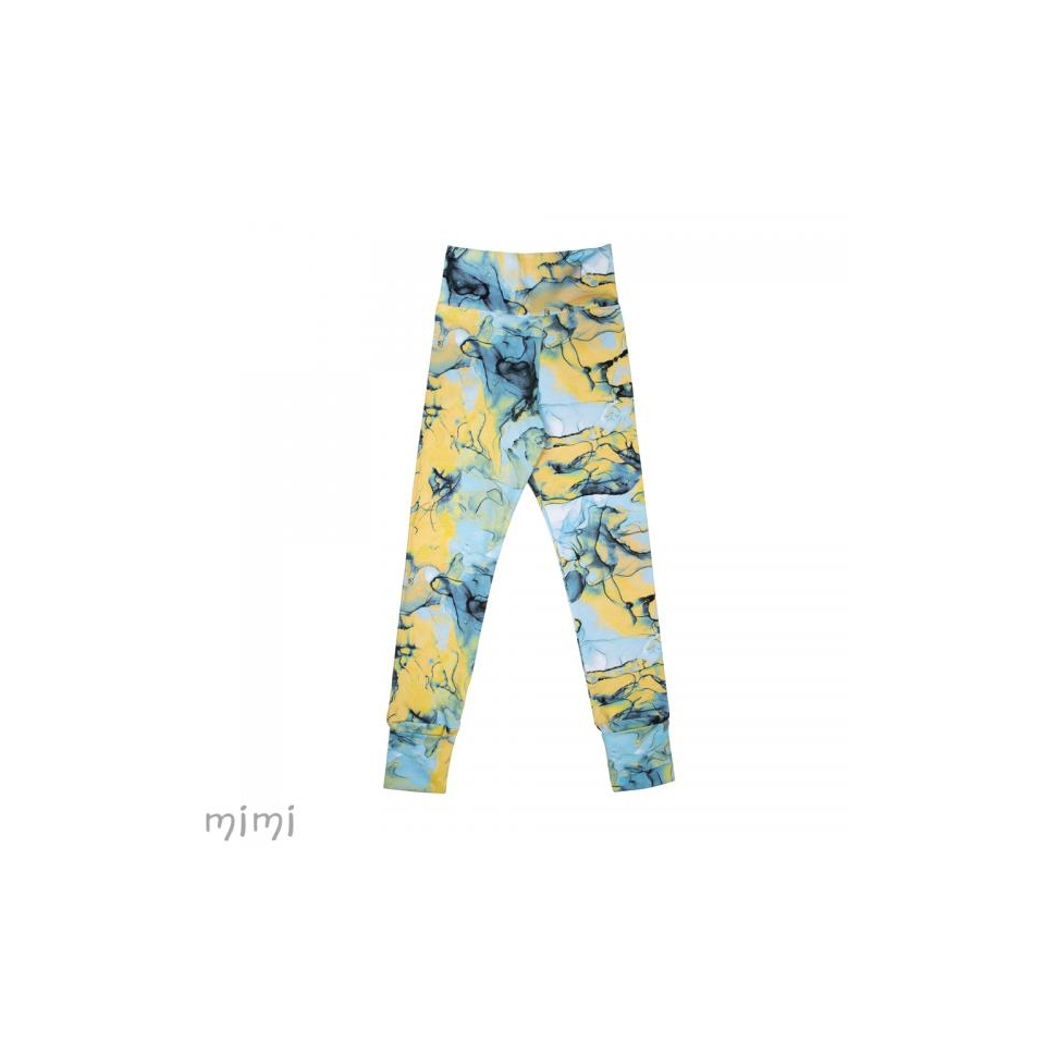 Women's leggings NORD Blue Marble