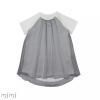 Dress LAURA Grey/White